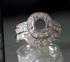 diamond cocktail ring setting - GCA Jewelers Saugus MA