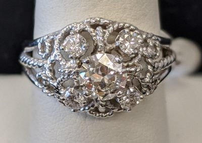 filligree diamond ring